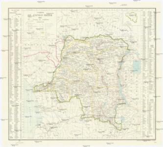Carte du Congo Belge