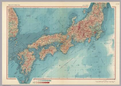 Japan - South.  Pergamon World Atlas.