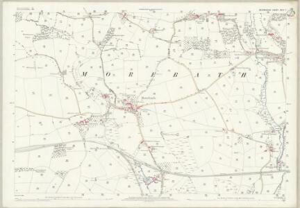 Devon XXIV.7 (includes: Morebath) - 25 Inch Map
