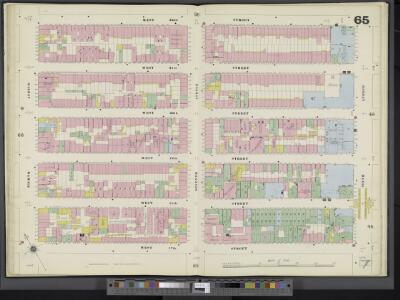 Manhattan, V. 3, Double Page Plate No. 65 [Map bounded by W. 22nd St., 6th Ave., W. 17th St., 8th Ave.]