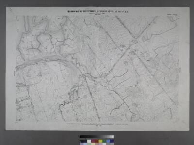 Sheet No. 67. [Includes Huegnot Avenue, (Arthur Kill Road) Fresh Kills Road and Olive Street in Valley Forge.]; Borough of Richmond, Topographical Survey.