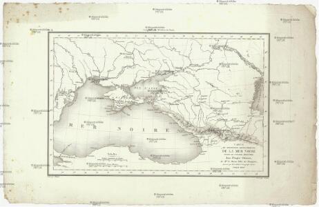 Carte du pourtour septentrional de la Mer Noire
