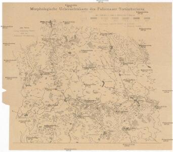 Morphologische Uebersichtskarte des Falkenauer Tertiärbeckens