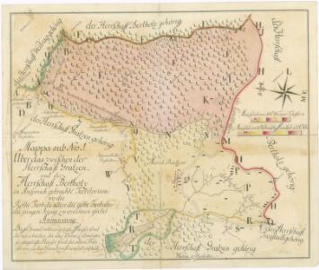 Mapa sporných hraničních území mezi panstvími Nové Hrady a Pertholz 1