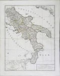 Charte von dem Königreiche Neapel