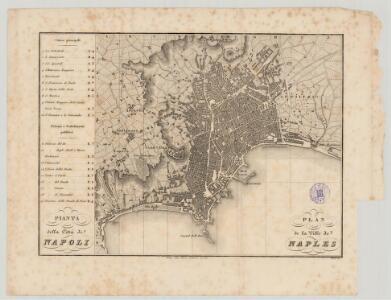 Pianta della città di Napoli = plan de la ville de Naples