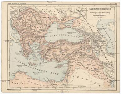 Das Osmanische Reich nach seiner größten Ausdehnung im XVII. Jahrhundert.