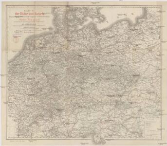 Karte der Bäder und Kurorte Deutschlands, Oesterreich-Ungarns und der Schweiz