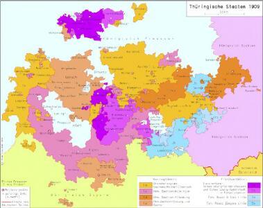 Thüringische Staaten 1909