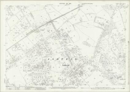 Surrey XVIII.12 (includes: Ashtead) - 25 Inch Map