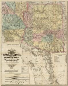 New Map Of The Territory Of Arizona, Southern California And Parts Of Nevada, Utah And Sonora.