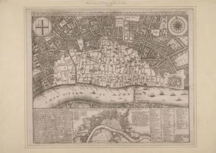 An Exact Map representing the conditions of the late famous and flourishing City of London