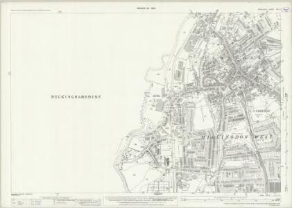 Middlesex XIV.3 (includes: Denham; Iver; Uxbridge) - 25 Inch Map