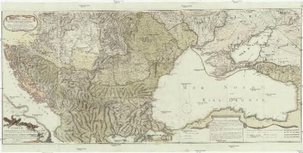 Geographische general Karte der Gränzen zwischen denen dreyen Kaiserthümern und ihren nach und nach geschehenen Veränderungen von Jahr 1718 bis heütigen Tags