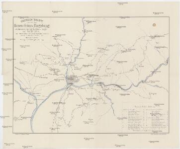 Übersichtskarte von Bozen-Gries u. Umgebung