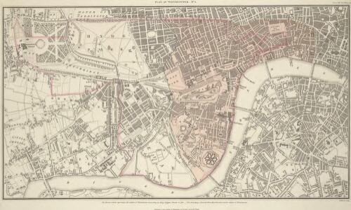 PLAN OF WESTMINSTER. No 1 [A Plan of the City of Westminster, showing all the Parishes, as well as the Ancient Boundary of Westminster, in the year 951.]
