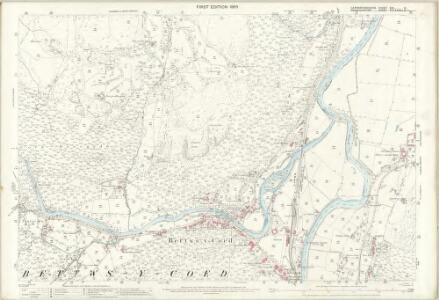 Caernarvonshire XIX.13 (includes: Betws Y Coed; Llanrwst Rural) - 25 Inch Map