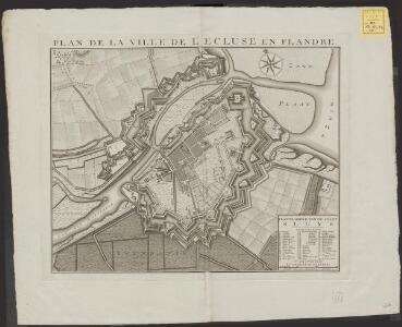 Plan de la Ville d l'Ecluse en Flandre