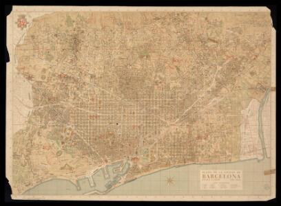 Plano de la ciudad de Barcelona 1:10 000 / plano dibujado y editado por el Servicio Técnico del Plano de la Ciudad