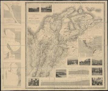 Mapa de la mayor parte de la Republica de Colombia y de la region occidental de los Estados Unidos de Venezuela