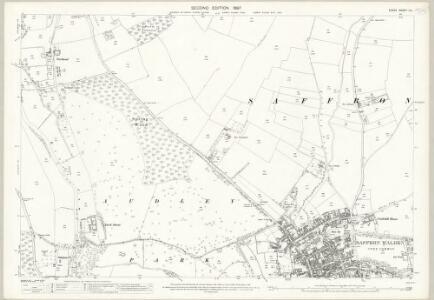 Essex (1st Ed/Rev 1862-96) IX.1 (includes: Saffron Walden) - 25 Inch Map
