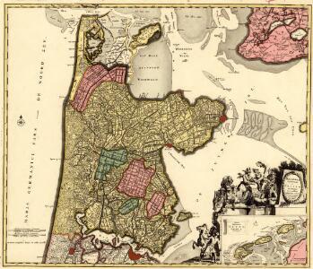 Hollandiae Septentrionalis & Frisiae Occidentalis Accuratissima Delineatio
