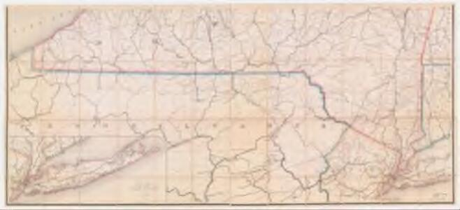 Post route map of the state of New York : and parts of Vermont ...