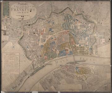 Geometrischer Grundriss Der Freyen Stadt Frankfurt Am Mayn und Sachsenhausen mit der nahen Umgegend