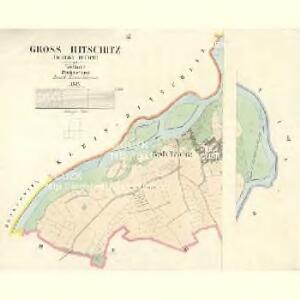 Gross Hitschitz (Welky Hičice) - c8425-1-003 - Kaiserpflichtexemplar der Landkarten des stabilen Katasters