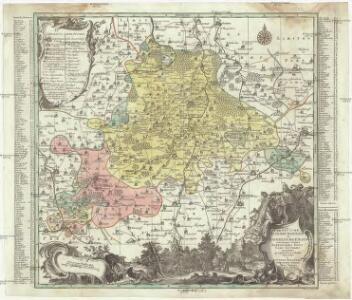 Praefecturae Altenburgensis et Ronneburgensis earumque vicinnia serenissimo duci Saxo Gothano parentes geographica tabula expreßae