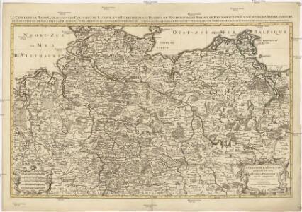 Le cercle de la Basse Saxe subdivisé en touts, les estats et principautés qui le composent