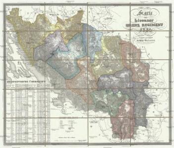 Karte vom Liccaner Grenz Regiment