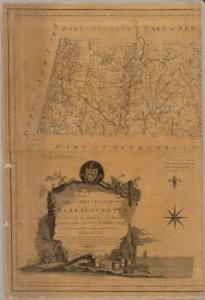An accurate map of the Commonwealth of Massachusetts exclusive of the District of Maine : compiled pursuant to an act of the General Court from actual surveys of the several towns &c. taken by their order, exhibiting the boundary lines of the Commonwealth, the counties and towns, the principal roads, rivers, mountains, mines, islands, rocks, shoals, channels, lakes, ponds, falls, mills, manufactures & public buildings, with the true latitudes & longitudes, &c : Western sheet