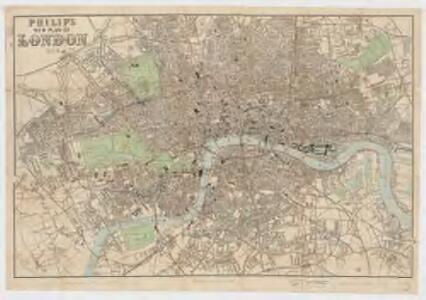 Philip's new plan of London, 1873