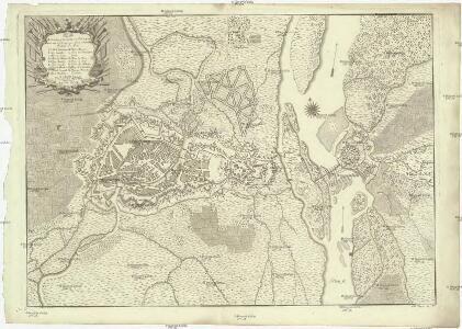Plan de Strasbourg sa citadelle et de Fort de Kehl avec tout les ouvrages qui ont este construit pedant la paix