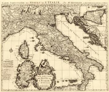 Carte Particuliere de Postes de l'Italie