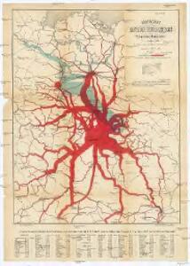 Graphische Karte der Verfrachtungen Böhmischen Braunkohlen