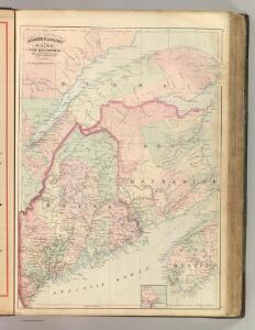 Maine, New Brunswick, with portions of Quebec and Nova Scotia.