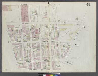 Plate 61: Map bounded by West 12th Street, Gansevoort Street, Hudson Street, Bank Street, Hudson River