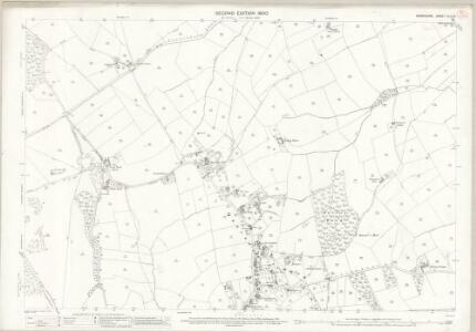 Derbyshire XLIV.16 (includes: Allestree; Duffield; Kedleston; Quarndon; Weston Underwood; Windley) - 25 Inch Map