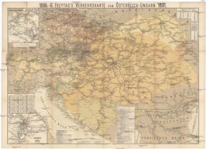 G. Freytag's Verkerhskarte von Österreich-Ungarn 1891