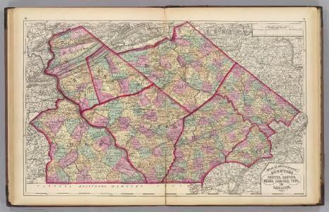 Chester, Dauphin, Berks, Lebanon, York, Lancaster counties.