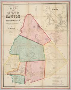 Map of the town of Canton, Norfolk County, Mass. : surveyed by order of the town