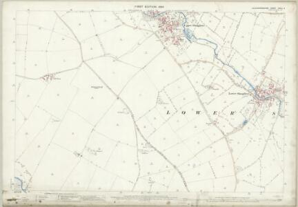 Gloucestershire XXVIII.8 (includes: Aston Blank; Lower Slaughter; Upper Slaughter) - 25 Inch Map