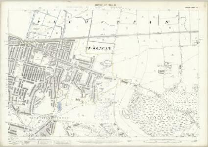 London (Edition of 1894-96) XCV (includes: Borough Of Woolwich) - 25 Inch Map