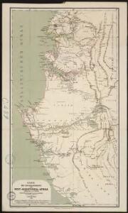 Karte des Handelsgebiets von West-Aequatoreal-Afrika