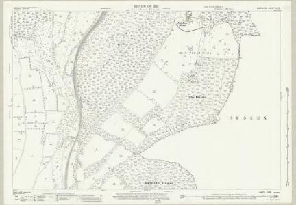 Hampshire and Isle of Wight LX.16 (includes: Buriton; Clanfield; Harting; Rowlands Castle) - 25 Inch Map