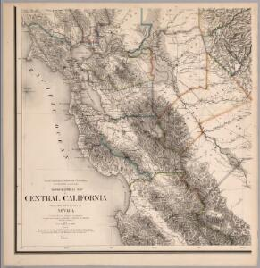 Topographical Map of Central California Together With a Part of Nevada, Sheet III.