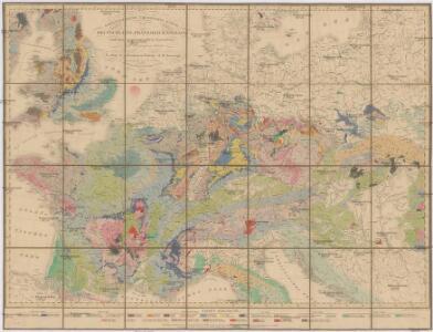 Geognostische Übersichts-Karte von Deutschland, Frankreich, England und den angrenzenden Laendern