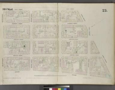 [Plate 23: Map bounded by Bowery, Grand Street, Allen Street, Division Street.]